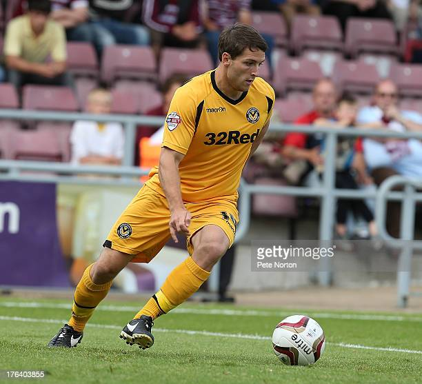 Conor Washington of Newport County AFC in action during the Sky Bet League Two match between Northampton Town and Newport County AFC at Sixfields...