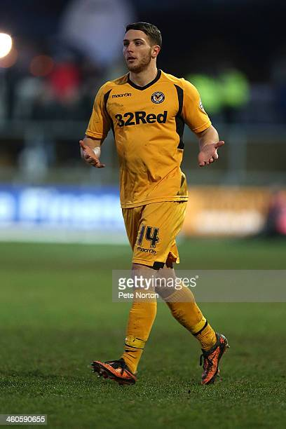 Conor Washington of Newport County AFC in action during the Sky Bet League Two match between Newport County and Northampton Town at Rodney Parade on...