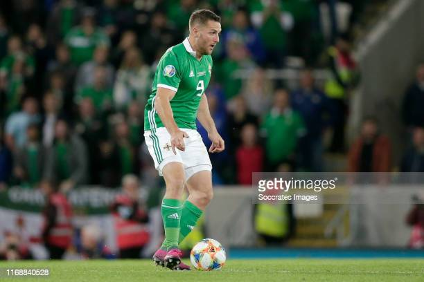 Conor Washington of Northern Ireland during the EURO Qualifier match between Northern Ireland v Germany at the Windsor Park on September 9 2019 in...