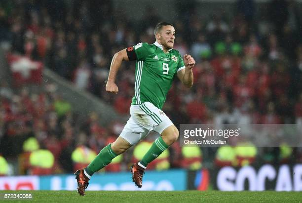 Conor Washington of Northern Ireland during the FIFA 2018 World Cup Qualifier PlayOff first leg between Northern Ireland and Switzerland at Windsor...