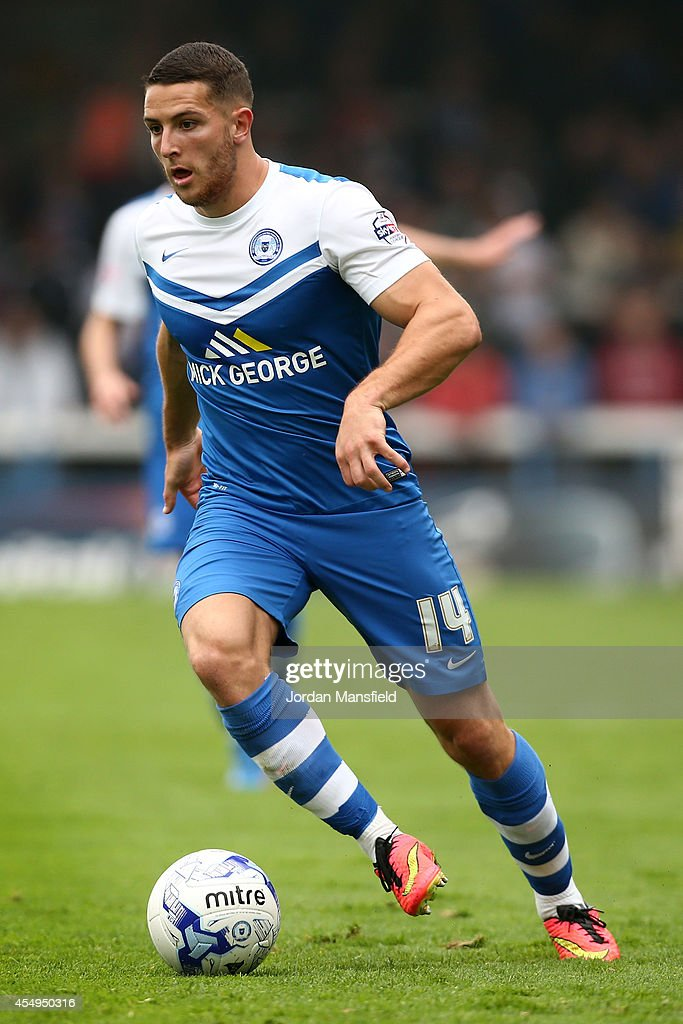 Conor Washington of Peterborough in action during the Sky Bet League One match between Peterborough United and Port Vale at London Road Stadium on September 6, 2014 in Peterborough, England.