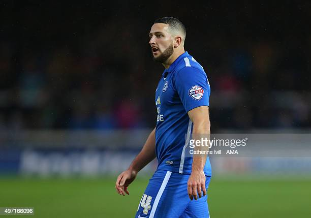 Conor Washington of Peterborough United during the Sky Bet League One match between Peterborough United and Fleetwood Town at London Road Stadium on...