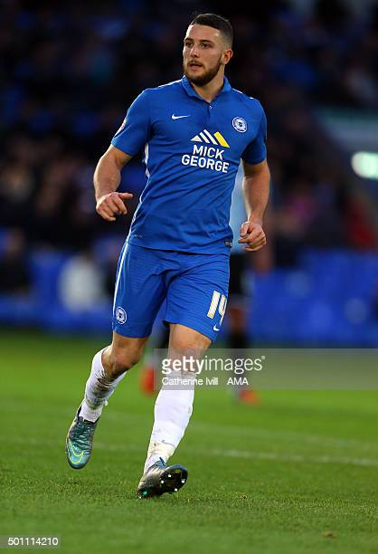 Conor Washington of Peterborough United during the Sky Bet League One match between Peterborough United and Shrewsbury Town at London Road Stadium on...