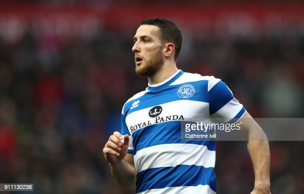 Conor Washington of Queens Park Rangers during the Sky Bet Championship match between Bristol City and Queens Park Rangers at Ashton Gate on January...