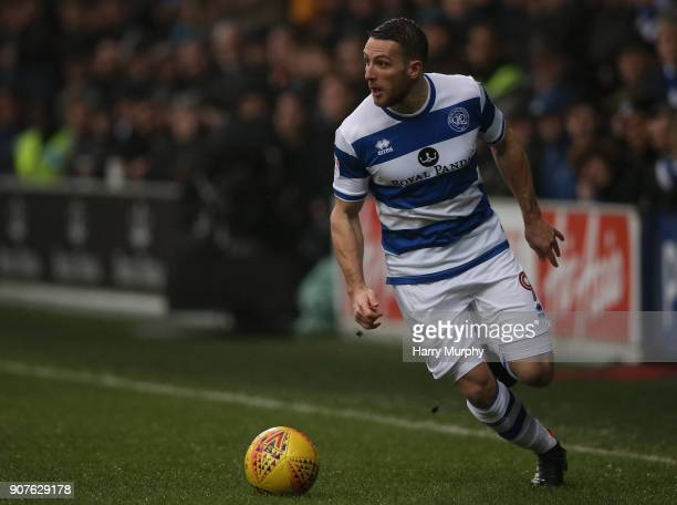 Conor Washington of Queens Park Rangers in action during the Sky Bet Championship match between Queens Park Rangers and Middlesbrough at Loftus Road...