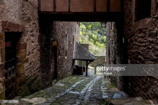 conques - aveyron stock pictures, royalty-free photos & images