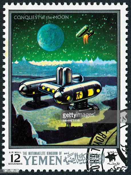 月のスタンプによる征服 - 1969年 ストックフォトと画像