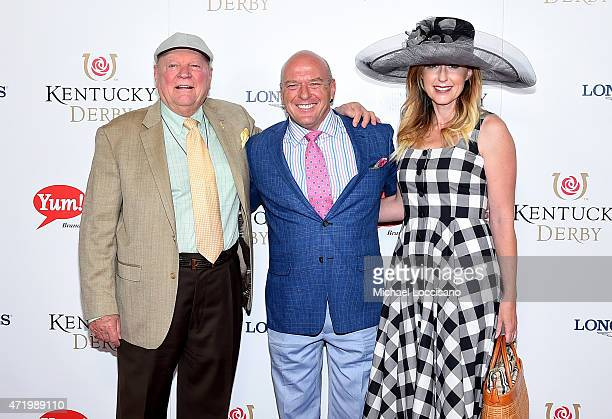 Conrad Bachmann Dean Norris and Bridget Norris attend the 141st Kentucky Derby at Churchill Downs on May 2 2015 in Louisville Kentucky