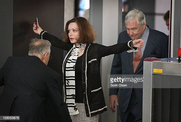 Conrad Black and as his wife Barbara Amiel arrive at the Dirksen Federal Building to hear the terms of his bail on July 23 2010 in Chicago Illinois...