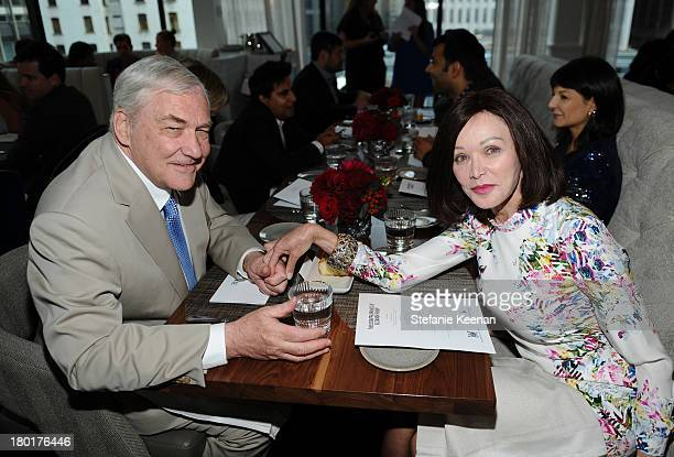 Conrad Black and Barbara Amiel at the Grey Goose vodka and Hudson's Bay dinner for The Disappearance of Eleanor Rigby at Chase on September 9 2013 in...