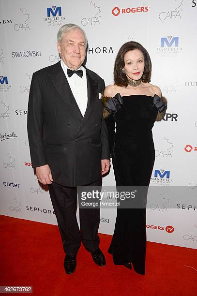 Conrad Black and Barbara Amiel attend the 2nd Annual Canadian Arts And Fashion Awards held at the Fairmont Royal York Hotel on January 31 2015 in...