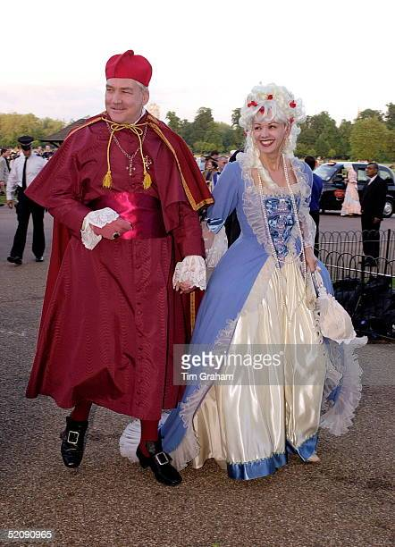 Conrad Black And His Wife Barbara Amiel Dressed In 18th Century Style Costumes For A Ball Given By Prince And Princess Michael Of Kent At Kensington...