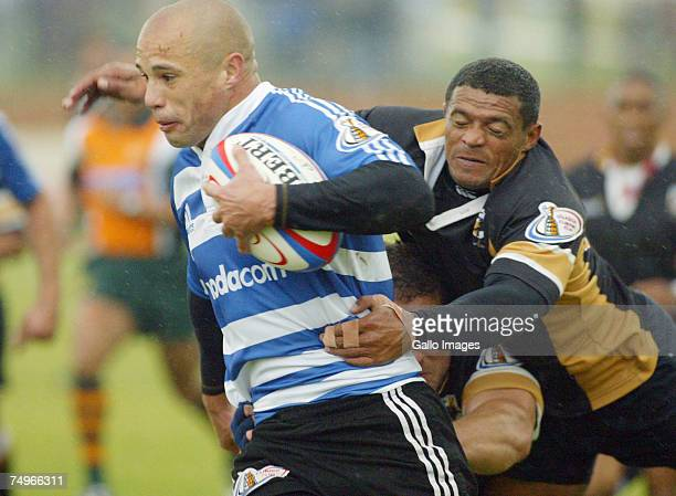Conrad Jantjies of Western Province in action during the Currie Cup match between Boland Cavaliers and Western Province at the Bolan stadium on June...
