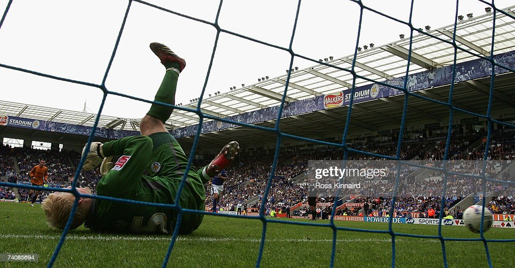 Conrad Logan of Leicester is beaten as Andrew Keogh of Wolverhampton Wanderers scores from the penalty spot during the Coca-cola Championship match between Leicester City and Wolverhampton Wanderers at the Walkers Stadium on May 6, 2007 in Leicester, England.