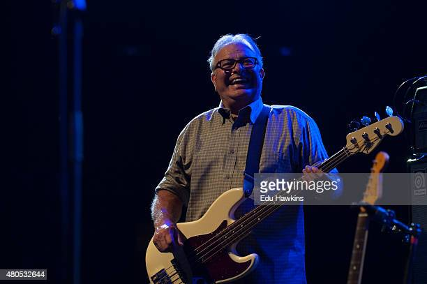 Conrad Lozanoo of Los Lobos performs on stage at Auditorium Stravinski on July 12 2015 in Montreux Switzerland