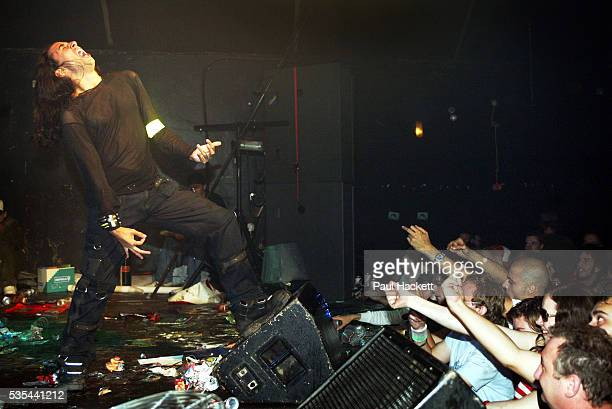 Conrad Monster performs One of the contestants at the UK Air Guitar Championships held at the Electric Ballroom in Camden Town London This...