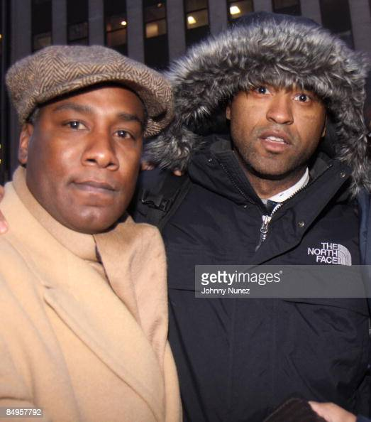 Conrad Muhammad And Londell McMillan Protest Outside Of