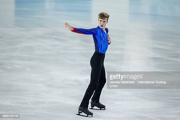 Conrad Orzel of Canada competes during ISU Junior Grand Prix of Figure Skating junior men freeg skatin on August 25 2016 in SaintGervaislesBains...