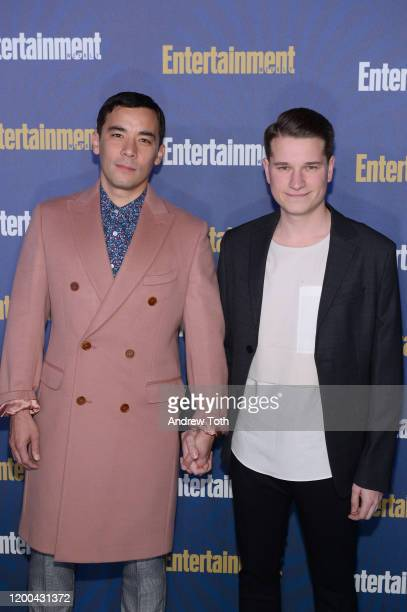 Conrad Ricamora and Joshua Cockream are seen as Entertainment Weekly Celebrates Screen Actors Guild Award Nominees at Chateau Marmont on January 18...