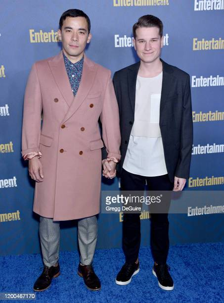 Conrad Ricamora and Joshua Cockream attend the Entertainment Weekly PreSAG Celebration at Chateau Marmont on January 18 2020 in Los Angeles California
