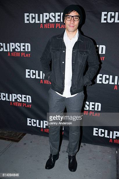 Conrad Ricamora attends Eclipsed Broadway Opening Night at Golden Theatre on March 6 2016 in New York City