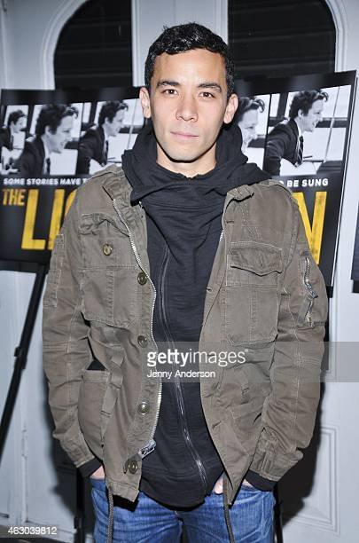Conrad Ricamora attends The Lion opening night at the Lynn Redgrave Theatre on February 8 2015 in New York City