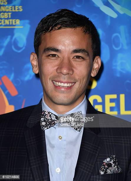 Conrad Ricamora attends the Los Angeles LGBT Center's 47th Anniversary Gala Vanguard Awards at the Pacific Design Plaza in West Hollywood on...