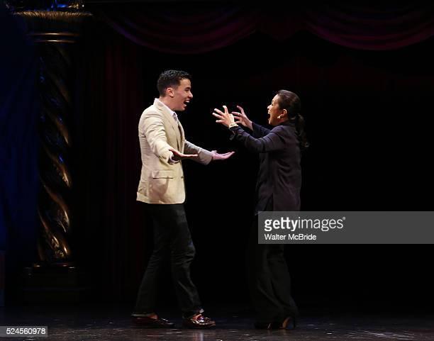 Conrad Ricamora Lea Salonga during the 69th Annual Theatre World Awards Presentation at the Music Box Theatre in New York City on June 03 2013