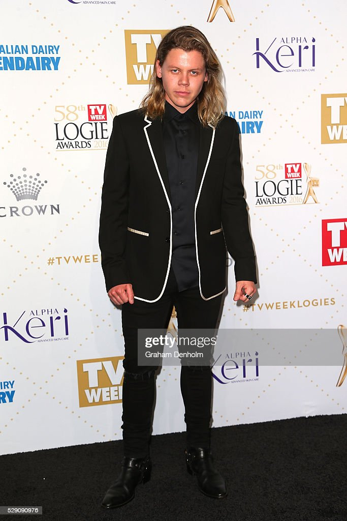 Conrad Sewell arrives at the 58th Annual Logie Awards at Crown Palladium on May 8, 2016 in Melbourne, Australia.