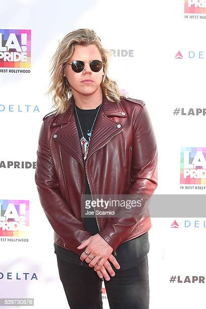 Conrad Sewell attends the LA PRIDE Music Festival and Parade 2016 on June 10 2016 in West Hollywood California
