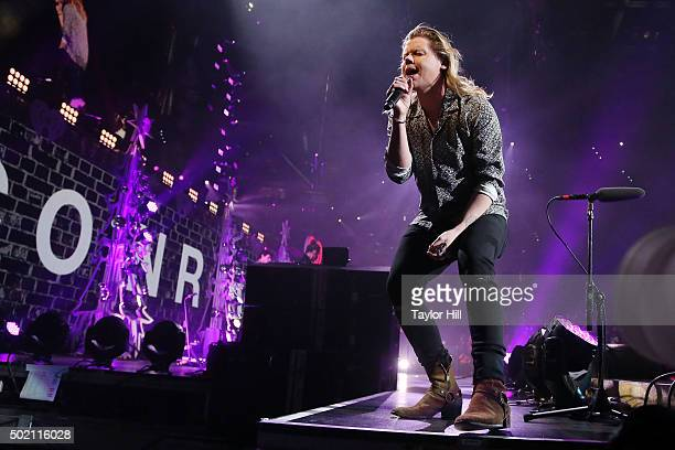 Conrad Sewell performs during the 2015 93.3 FLZ Jingle Ball at Amalie Arena on December 19, 2015 in Tampa, Florida.