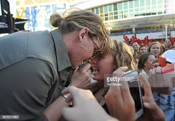 Conrad Sewell performs onstage during 933 FLZ's Jingle Ball 2015 Daytime Presented by Capital One at Amalie Arena on December 19 2015 in Tampa Bay...