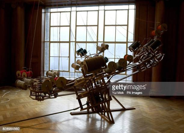 Conrad Shawcross 'The Nervous System' on display as part of the 'New Blood' exhibition at The Saatchi Gallery on the South Bank central London