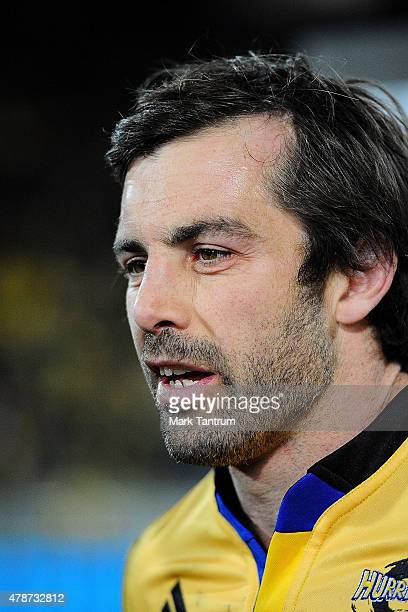 Conrad Smith is interviewed after winning the Super Rugby Semi Final match between the Hurricanes and the Brumbies at Westpac Stadium on June 27 2015...