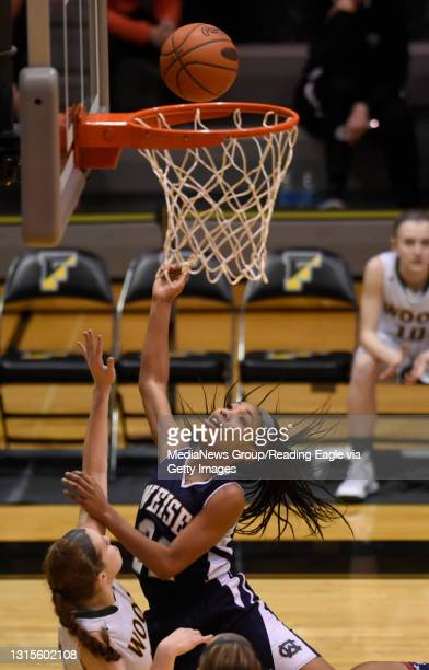 Conrad Weiser's TaCari Talford finishes a layup in the second quarter. GIRLS BASKETBALL Conrad Weiser Scouts lose 56-46 to the Archbishop Wood...