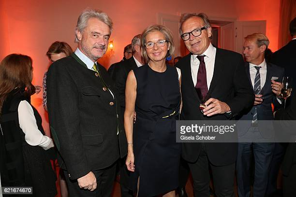 Conrado Dornier Inga GrieseSchwenkow and Werner E Klatten during the birthday party for the 10th anniversary of ICON at Nymphenburg Palais No 6 on...