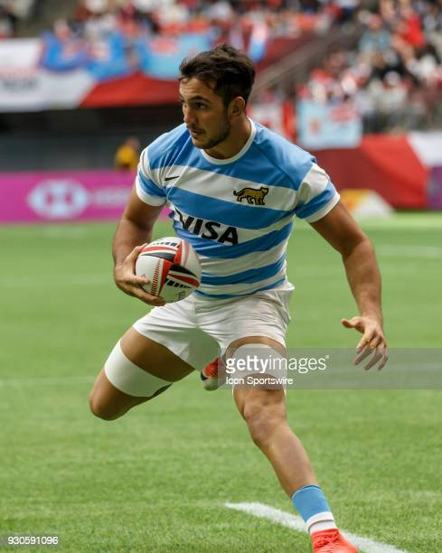 Conrado Roura of Argentina scores during Game Argentina vs Samoa Pool B match at the Canada Sevens held March 1011 2018 in BC Place Stadium in...