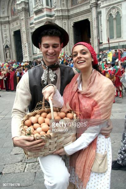 Consacrated Easter eggs Florence Tuscany Italy