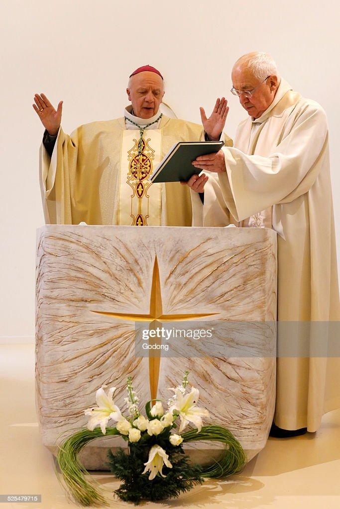 Consecration of the chapel Notre-Dame du Sourire : News Photo