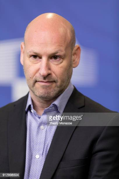 ConsenSys Ethereum CEO Joseph Lubin during a press conference to launch the EU blockchain observatory and forum at the European Commission on...