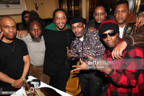 Consequence 88 Keys QTip Large Professor Mohammed and Mr Cheeks attend QTip's Surprise Birthday Party at Russian Samovar on April 9 2017 in New York...