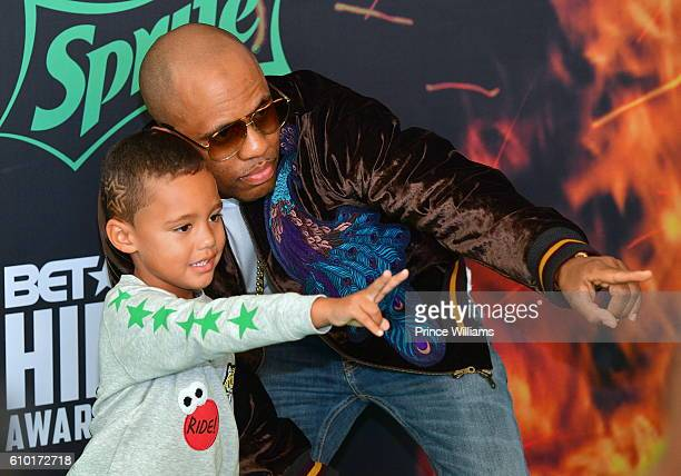 Consequence and Caiden attend the BET Hip Hop Awards 2016 Green Carpet at Cobb Energy Performing Arts Center on September 17 2016 in Atlanta Georgia