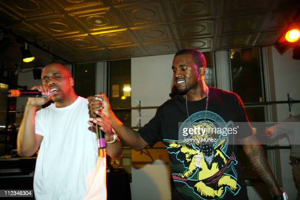 Consequence and Kanye West during Consequence Launch Party with Surprise Performance March 15 2007 at Ecko Show Room NYC in New York City New York...