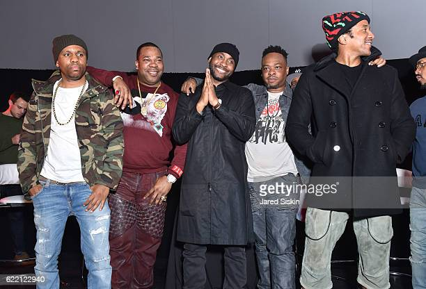Consequence Busta Rhymes Omar Dubois Jarobi White and QTip attend 'They Got It From Here' Album Premiere Event for A Tribe Called Quest at MoMA PS1...