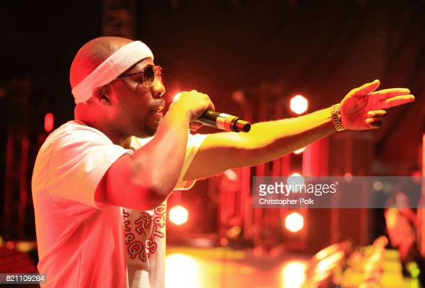 Consequence of A Tribe Called Quest performs onstage during day 2 of FYF Fest 2017 at Exposition Park on July 22 2017 in Los Angeles California