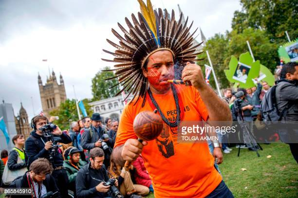 Conservation campaigner Dinamam Tuxa from Brazil joins a delegation of indigenous and rural community leaders from 14 countries in Latin America and...