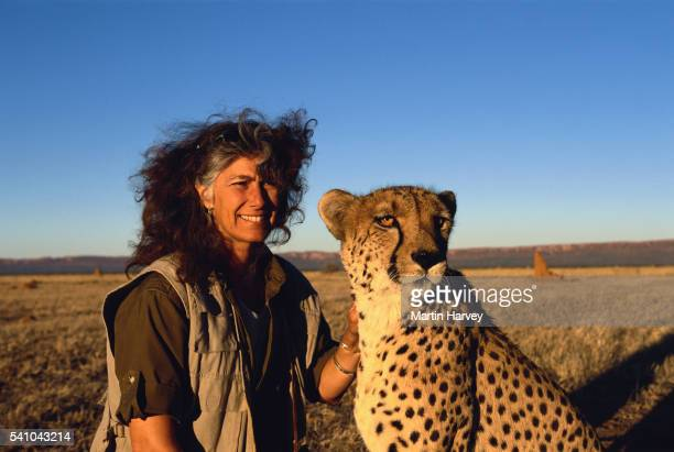 Conservationist Laurie Marker and Cheetah