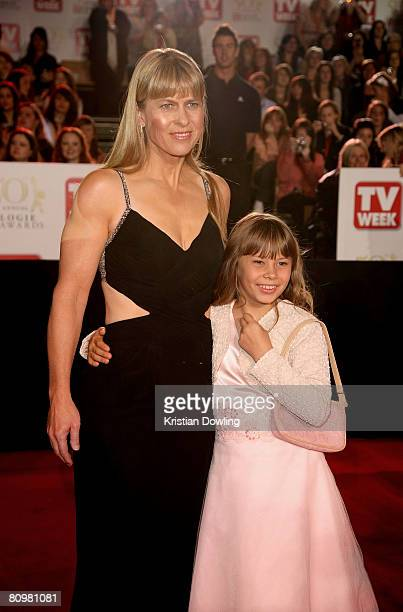 Conservationists Terri Irwin and daughter Bindi Irwin arrive on the red carpet at the 50th Annual TV Week Logie Awards at the Crown Towers Hotel and...