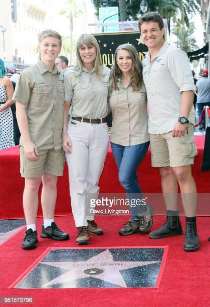 Conservationists/TV personalities Robert Irwin, Terri Irwin and Bindi Irwin and wakeboarder Chandler Powell attend Steve Irwin being honored...