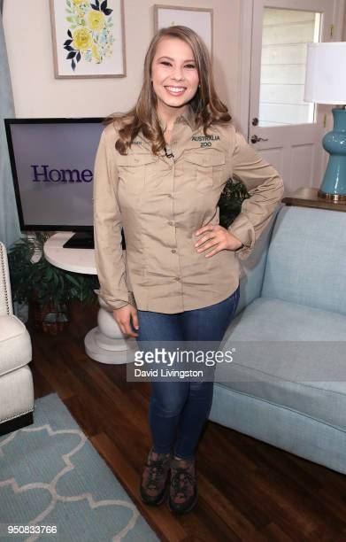 Conservationist/TV personality Bindi Irwin visits Hallmark's 'Home Family' at Universal Studios Hollywood on April 24 2018 in Universal City...